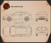Opel Astra GTC 2012 Blueprint