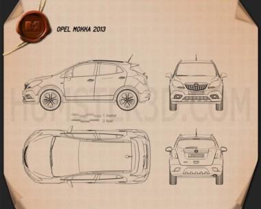 Opel Mokka 2013 Blueprint