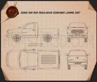 Dodge Ram 1500 Regular Cab Laramie 120-inch Box 2008 Blueprint