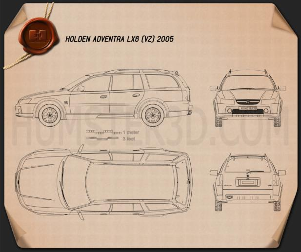 Holden Adventra LX6 (VZ) 2005 Blueprint
