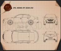 Opel Insignia OPC sedan 2012 Blueprint