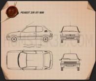 Peugeot 205 3-door GTI 1998 Blueprint