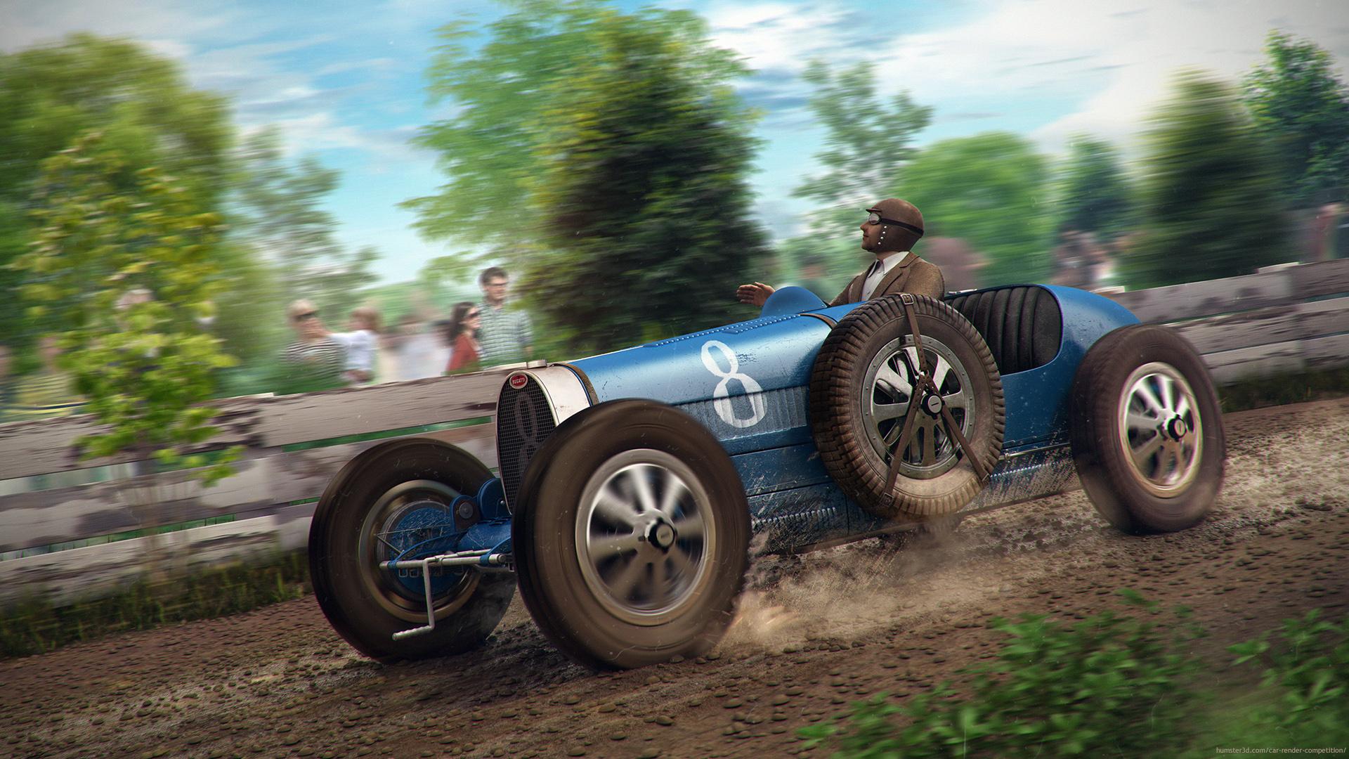 Bugatti TYPE 35 3d art
