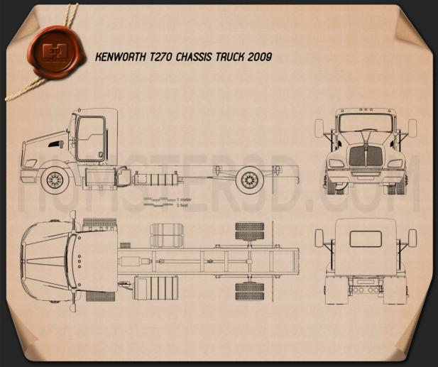 Kenworth T270 Chassis Truck 2009 Blueprint