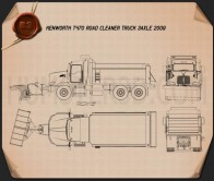 Kenworth T470 Road Cleaner Truck 3-axle 2009 Blueprint