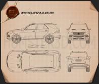 Mercedes-Benz M-Class 2012 Blueprint