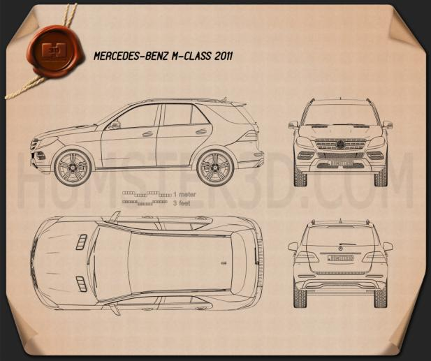 Mercedes-Benz M-Class 2012 Blueprint