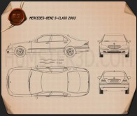 Mercedes-Benz S-class 2003 Blueprint
