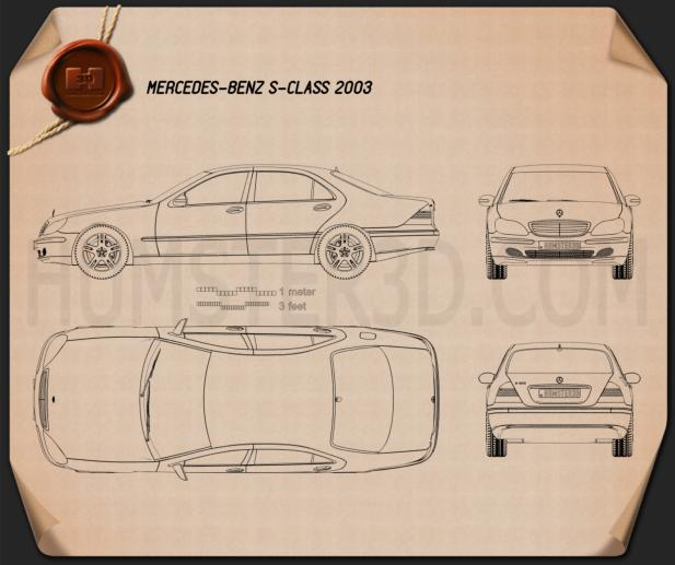 Mercedes-Benz S-class 2003 Blueprint