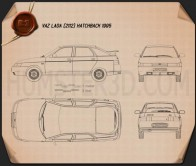 VAZ Lada 2112 hatchback 1995 Blueprint