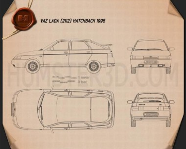 VAZ Lada 2112 hatchback 1995 Blueprint