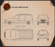 Lada Largus Van 2012 Blueprint