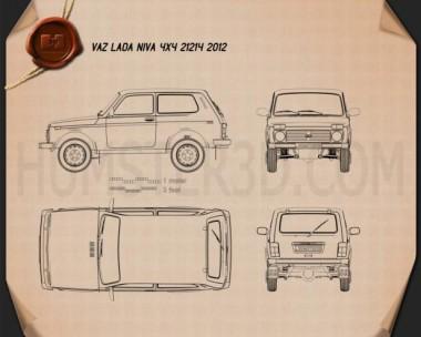Lada Niva 4×4 21214 2012 Blueprint