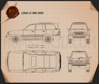 Lexus LX 2003 Blueprint
