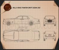 Rolls-Royce Phantom sedan 2012 Blueprint