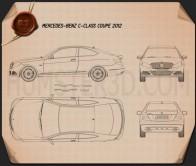 Mercedes-Benz C-class coupe 2012 Blueprint