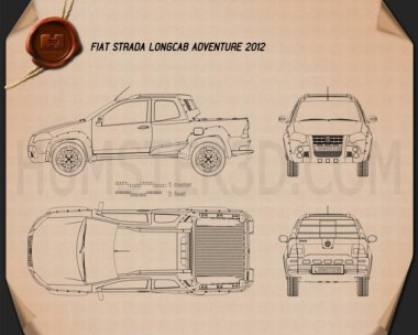 Fiat Strada Long Cab Adventure 2012 Blueprint