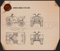 Yamaha Grizzly 700 2013 Blueprint