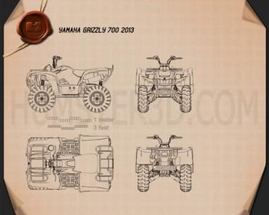 Yamaha Grizzly 700 2013 Blueprint