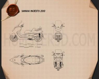 Yamaha Majesty 2013 Blueprint