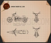 Yamaha Raider SCL 2013 Blueprint