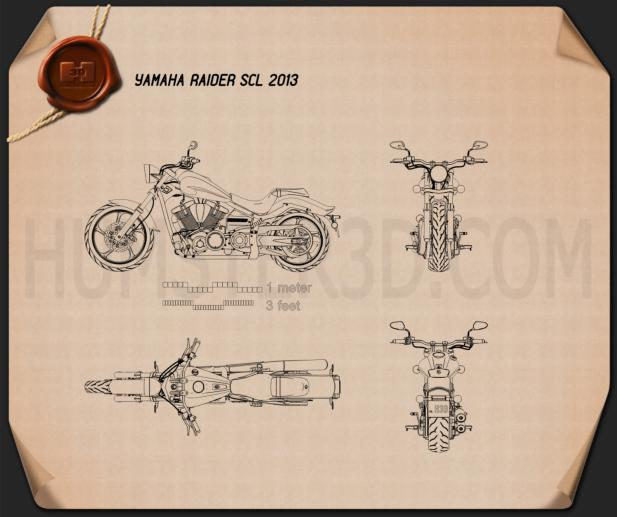 Yamaha Raider SCL 2013 Blueprint