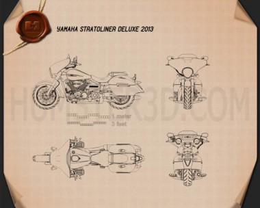 Yamaha Stratoliner Deluxe 2013  Blueprint