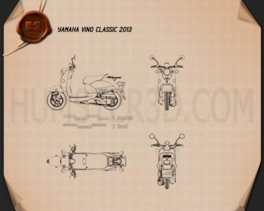 Yamaha Vino Classic 2013 Blueprint