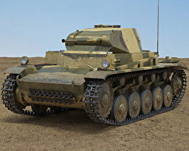 Panzer II 3D model