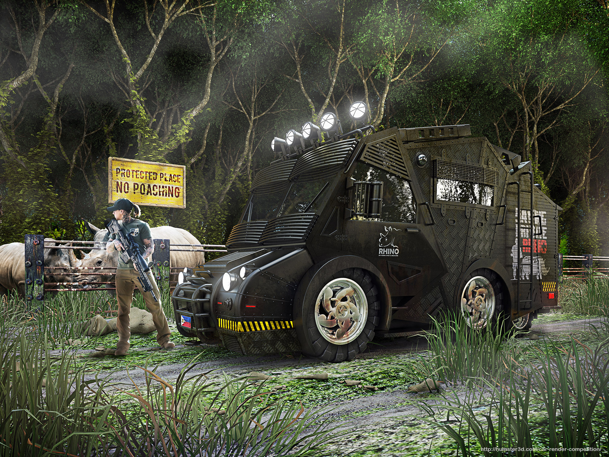 Anti-Poaching Rescue Vehicle 3d art