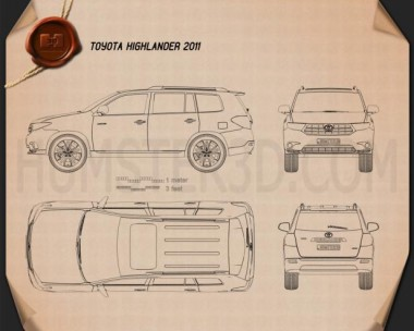 Toyota Highlander 2011 Blueprint