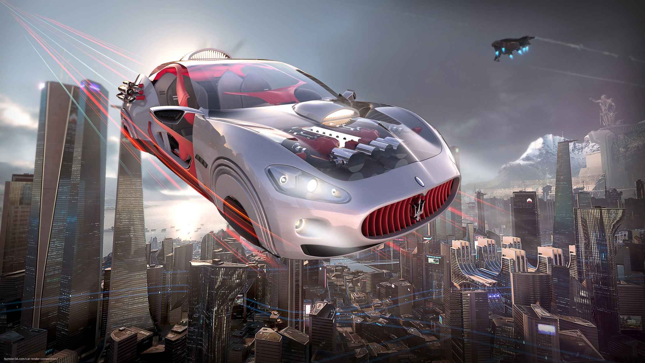 Flying car 3d art