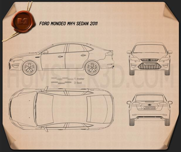 Ford Mondeo sedan 2011 Blueprint