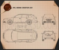 Opel Insignia Cross Four 2013 Blueprint