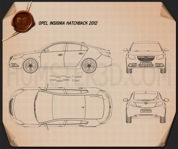 Opel Insignia hatchback 2012 Blueprint