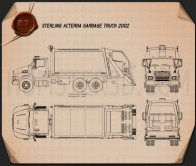 Sterling Acterra Garbage Truck 2002 Blueprint