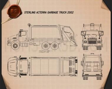 Sterling Acterra Garbage Truck 2002 Blueprint