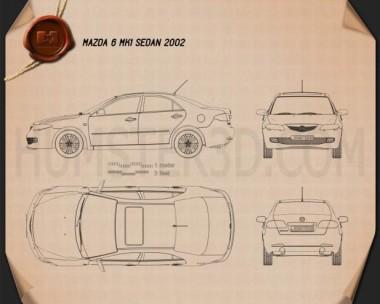 Mazda 6 sedan 2002 Blueprint