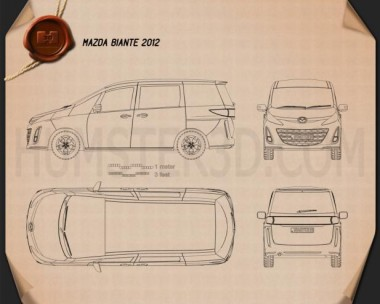 Mazda Biante 2012 Blueprint