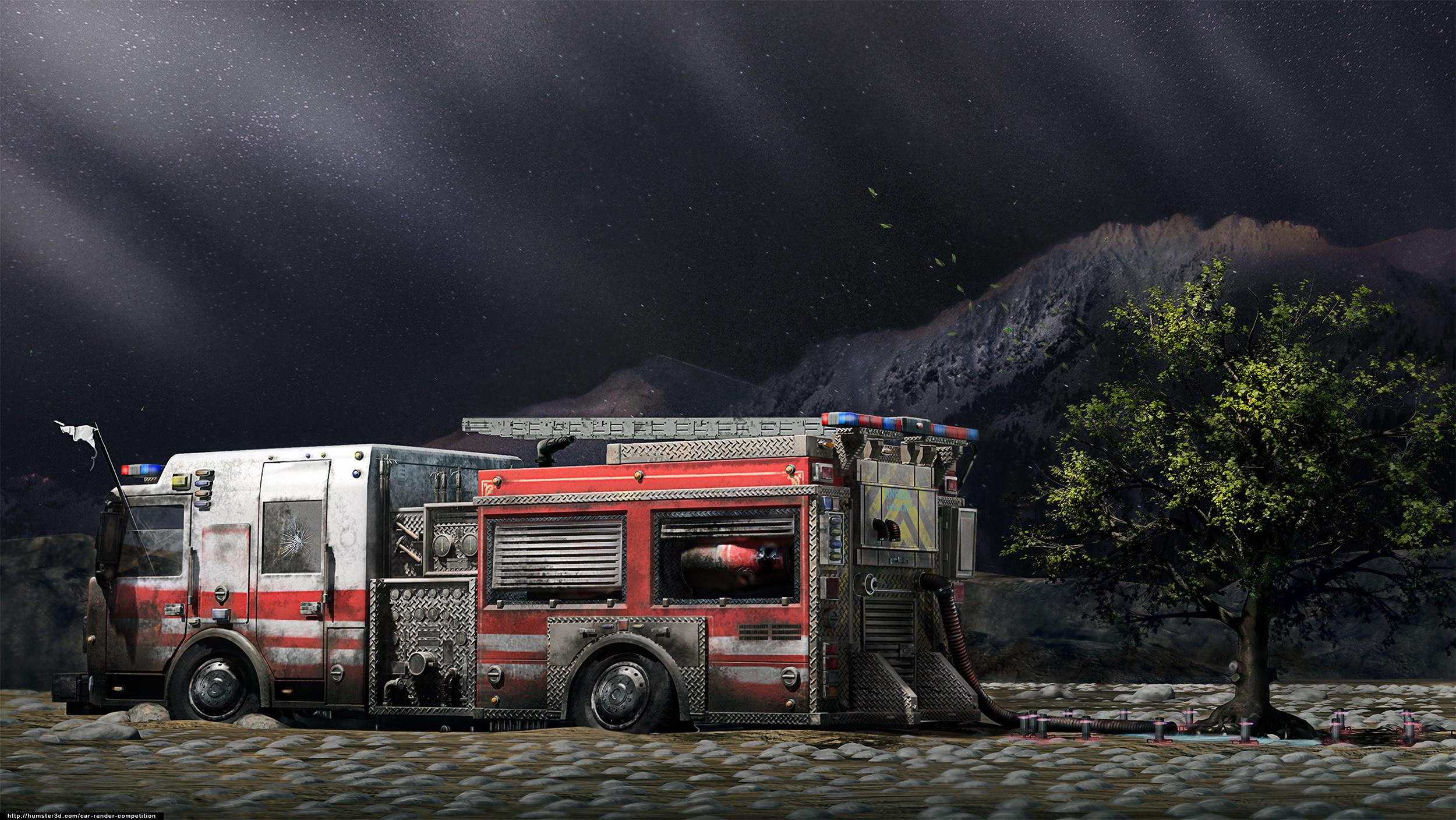 Fire Truck 3d art