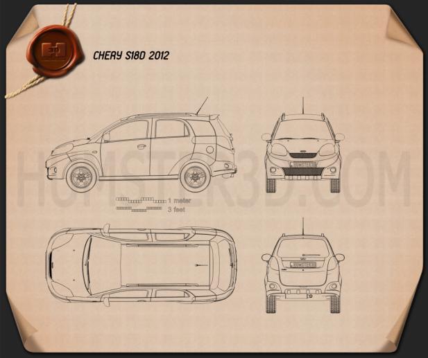 Chery IndiS (X-Cross) 2012 Blueprint
