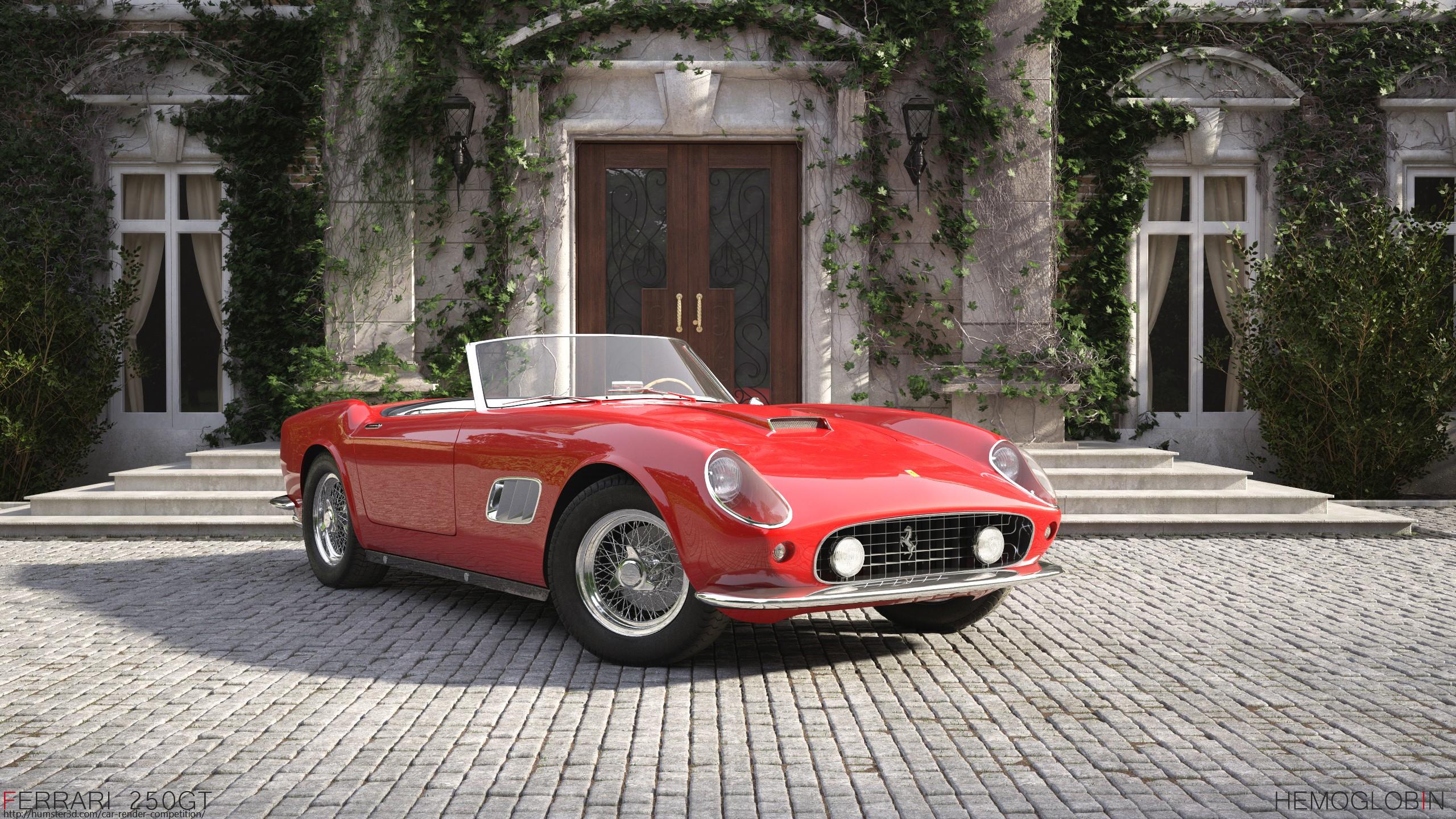 Ferrari 250 gt california spyder 1961 3d art