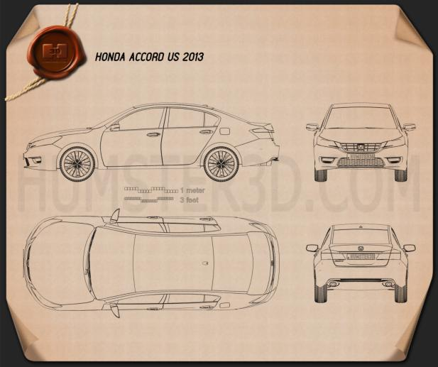 Honda Accord (Inspire) 2013 Blueprint