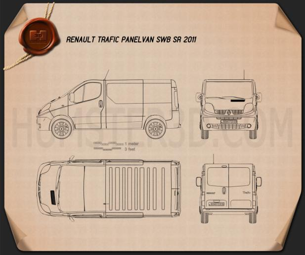 Renault Trafic Panel Van Blueprint