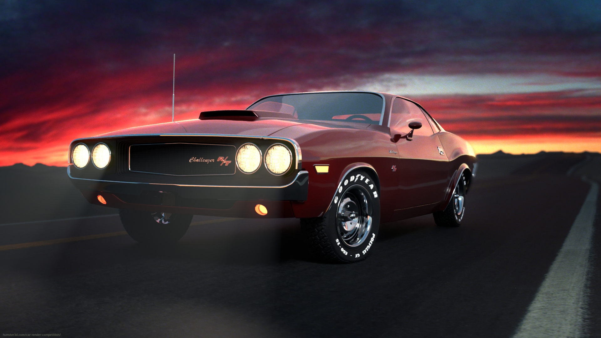 Dodge Challenger 3d art