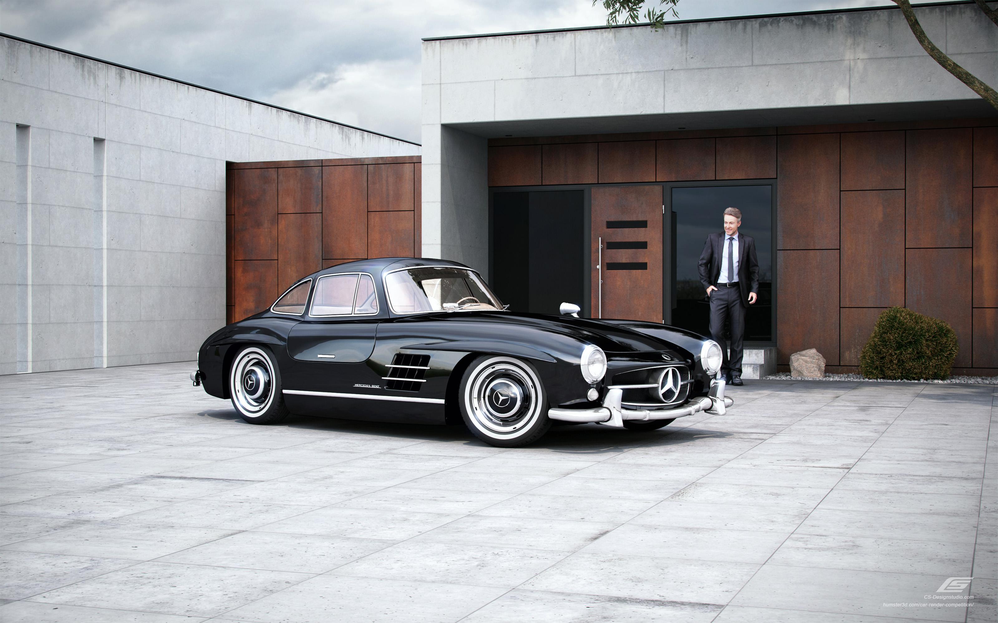 """The Legend"" Mercedes-Benz 300 SL 3d art"
