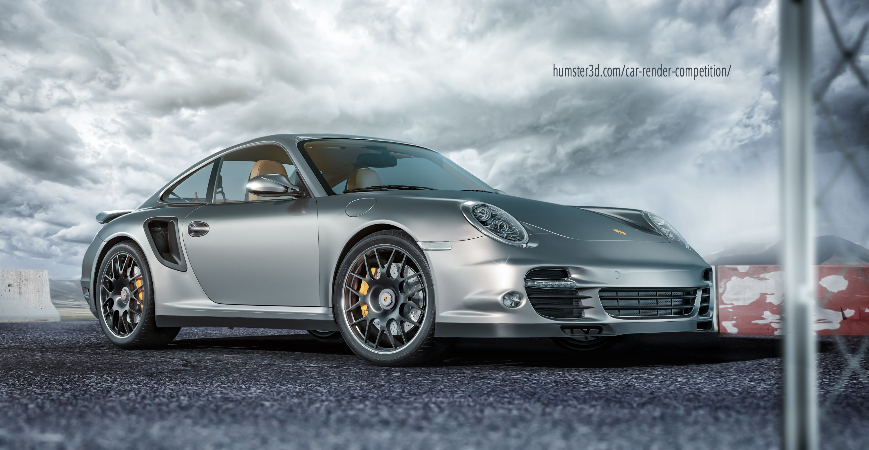 Porsche 911 Turbo S 3d art