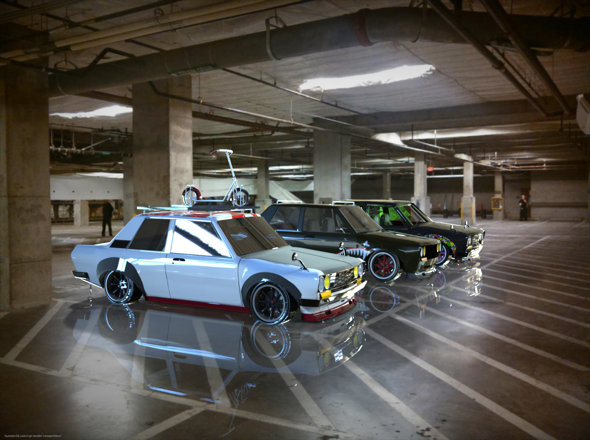 Datsun 510 Club Meet 3d art