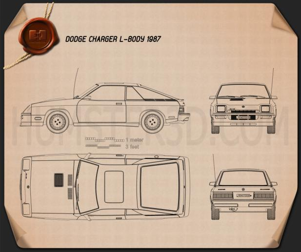 Dodge Charger L-body 1987 Blueprint