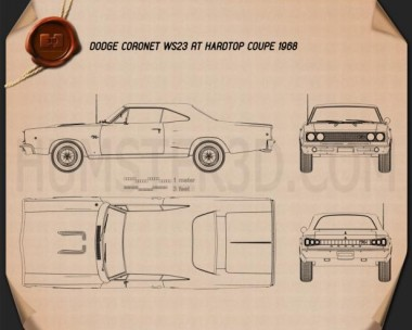 Dodge Coronet R/T Coupe 1968 Blueprint